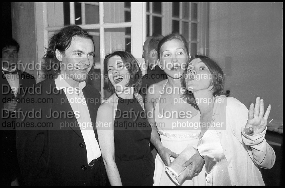 DAMIEN HIRST; JANE WILSON; MAIA NORMAN; LOUISE WILSON, Fundraising party at the Serpentine sponsored by Vanity Fair. The guest of honour was the Princess of Wales . Serpentine Gallery. 28 June 1995.<br /> <br /> SUPPLIED FOR ONE-TIME USE ONLY> DO NOT ARCHIVE. © Copyright Photograph by Dafydd Jones 248 Clapham Rd.  London SW90PZ Tel 020 7820 0771 www.dafjones.com