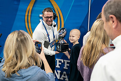 Check Presentations prior to the 2019 College Football Playoff Semifinal at the Chick-fil-A Peach Bowl on Saturday, Dec. 28, in Atlanta. (Paul Abell via Abell Images for the Chick-fil-A Peach Bowl)