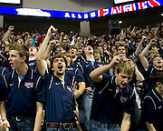 The Allen band performs during Allen High School's football state championship community celebration at the Allen Event Center on Wednesday, January 30, 2013 in Allen, Texas. (Cooper Neill/The Dallas Morning News)