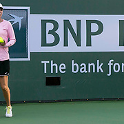 March 7, 2015, Indian Wells, California:<br /> Lindsay Davenport looks on during a practice session with Madison Keys at the Indian Wells Tennis Garden in Indian Wells, California Saturday, March 7, 2015.<br /> (Photo by Billie Weiss/BNP Paribas Open)