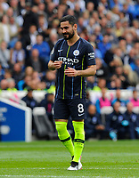 BRIGHTON, ENGLAND - MAY 12:  Ilkay Gundogan (8) of Manchester City during the Premier League match between Brighton & Hove Albion and Manchester City at American Express Community Stadium on May 12, 2019 in Brighton, United Kingdom. (MB Media)