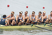 "Rio de Janeiro. BRAZIL.   GBR M8+. Bow. Scott DURANT,   Tom RANSLEY, Andy Triggs HODGE,HODGE,  Matt GOTREL,  Pete REED, Paul BENNETT, Matt LANGRIDGE, William SATCH and Cox, Phelen HILL, moving away from the start at the 2016 Olympic Rowing Regatta. Lagoa Stadium,<br /> Copacabana,  ""Olympic Summer Games""<br /> Rodrigo de Freitas Lagoon, Lagoa.   Monday  08/08/2016 <br /> <br /> [Mandatory Credit; Peter SPURRIER/Intersport Images]"