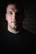 "A portrait of mixed martial arts athlete Matt ""The Hammer"" Hamill"