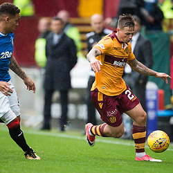 Craig Tanner of Motherwell takes the ball down the wing, Motherwell v Rangers, Scottish Premiership, 6 August 2017 . (c) Adam Oliver | sportPix.org.uk
