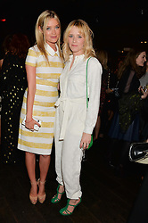 Left to right, LAURA WHITMORE and EDITH BOWMAN at the Lancôme pre BAFTA party held at The London Edition, 10 Berners Street, London on 14th February 2014.