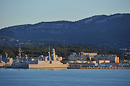 20/06/15 - TOULON - VAR - FRANCE - La Rade de Toulon et son port militaire. La fregate Paul Chevalier - Photo Jerome CHABANNE
