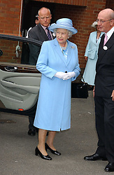 HM The QUEEN ELIZABETH 11 and  at the King George VI and The Queen Elizabeth Diamond Stakes sponsored by De Beers held at Newbury Racecourse, Berkshie on 23rd July 2005.<br />