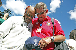 Coral Springs Fire Department Chaplain Bob Ossler prays with Robert Perry on Thursday, February 15, 2018, near Marjory Stoneman Douglas High School in Parkland, FL, USA, where 17 people were killed Wednesday. Photo by Amy Beth Bennett/Sun Sentinel/TNS/ABACAPRESS.COM
