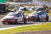 Max Coates(GBR) & Jamie Bond(GBR) Team HARD during Round 14 of the Renault UK Clio Cup at Knockhill Racing Circuit, Dunfermline, Scotland on 15 September 2019.