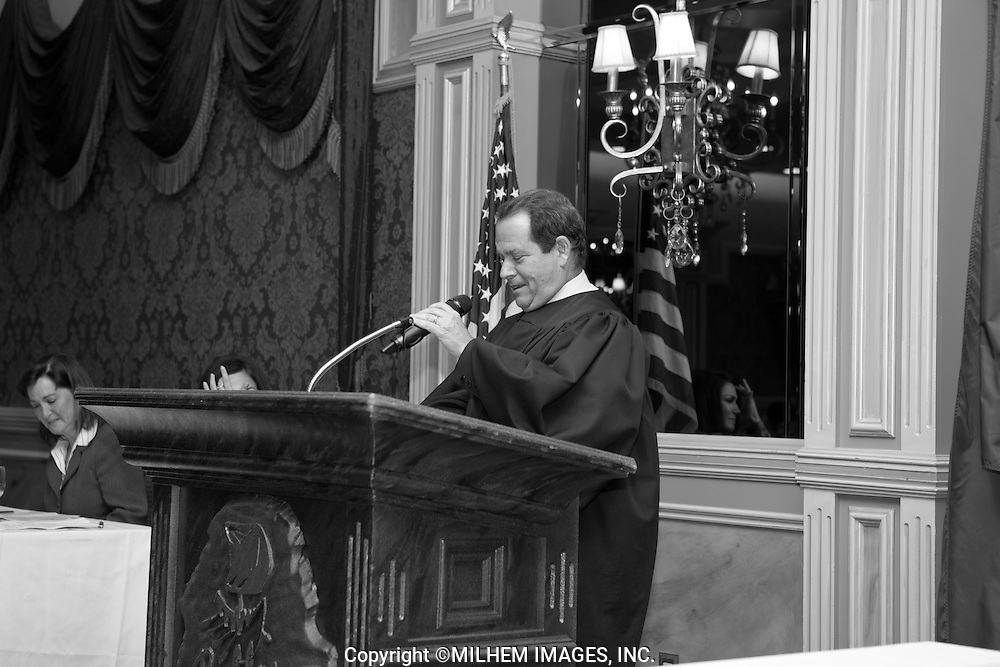 Hon. Gerald E. Rosen, Chief Judge of the Eastern District of Michigan addresses new US Citizens at Naturalization Ceremony in Dearborn, Michigan