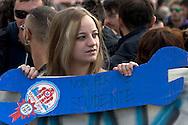 Roma 16 Ottobre 2015<br /> Un centinaio di studenti ha protestato in piazzale Aldo Moro, di fronte all'Università La Sapienza, la sede del  Maker Faire 2015, la fiera dell'innovazione europea organizzata all'interno dell'universita. I manifestanti denunciano l'uso privatistico di una struttura pubblica, l'interruzione delle attività di ricerca e la non trasparenza sull'uso dei ricavi.<br /> Rome 16 October 2015<br /> A hundred students protested in Piazzale Aldo Moro, opposite the University La Sapienza, the headquarters of the Maker Faire 2015, the European innovation fair organized within the university. Protesters denounce the  private use of a public facility, the interruption of research and lack of transparency on the use of revenues.