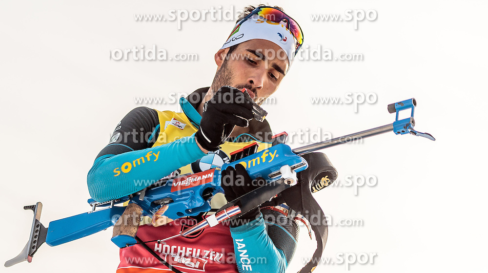 12.02.2017, Biathlonarena, Hochfilzen, AUT, IBU Weltmeisterschaften Biathlon, Hochfilzen 2017, Verfolgung Herren, im Bild Martin Fourcade (FRA) // Martin Fourcade of France during Mens pursuit of the IBU Biathlon World Championships at the Biathlonarena in Hochfilzen, Austria on 2017/02/12. EXPA Pictures © 2017, PhotoCredit: EXPA/ JFK
