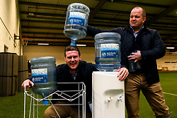 Wenlock Spring Water Cooler with Niall Annett and Callum Black of Worcester Warriors - Mandatory by-line: Robbie Stephenson/JMP - 25/01/2020 - RUGBY - Sixways Stadium - Worcester, England - Worcester Warriors v Wasps - Gallagher Premiership Rugby