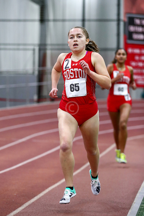 womens 3000 meters, BU, Angela Castronuovo<br /> Boston University Scarlet and White<br /> Indoor Track & Field, Bruce LeHane