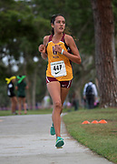 Nov 1, 2017; Long Beach, CA, USA; Aliya Mesilhovich of Long Beach Wilson places second in the girls race in 17:58 during the Moore League cross country finals at Heartwell Park.