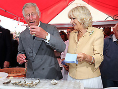 JULY 29 2013 Prince of Wales and Duchess of Cornwall visit Whitstable in Kent