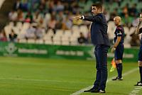 Sevilla, España, 15 de octubre de 2014: El entrenador del Real Betis Julio Velazquez durante el partido entre Real Betis y Lugo correspondiente a la jornada 5 de la Copa del Rey 2014-2015 celebrado en el estadio Benito Villamarain de Sevilla. (Foto: Carlos Bouza / Alter Photos)