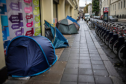 FILE IMAGE © Licensed to London News Pictures. 21/10/2019. London, UK. Tents in William IV Street. Pictures highlight the reality of homelessness in Westminster taken during the build up of Brexit and the General election just a few hundreds yards from Parliament and Downing Street. Photo credit: Alex Lentati/LNP