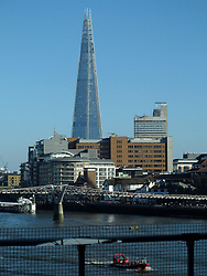 UK ENGLAND LONDON MAR14 - View of the City of London skyline, including the Shard,  from the Blackfriars Station, built on a bridge spanning the river Thames in central London.<br /> <br /> jre/Photo by Jiri Rezac<br /> <br /> © Jiri Rezac 2014