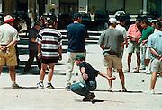 Frankrijk, Tain, 8-7-2002Jeux des Boules wedstrijd in een dorp in het Rhonedal.Sport, traditieFoto: Flip Franssen/Hollandse Hoogte