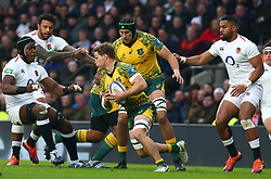 November 24, 2018 - London, England, United Kingdom - London, UK, 24 November, 2018.L-R Maro Itoje of England   and Australia's Michael Hooper  .during Quilter International between England  and Australia at Twickenham stadium , London, England on 24 Nov 2018. (Credit Image: © Action Foto Sport/NurPhoto via ZUMA Press)