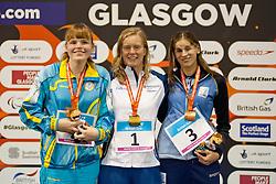 BEREZHNA Yana, REICHARD Maja, BAEZ Nadia UKR, SWE, ARG at 2015 IPC Swimming World Championships -  Women's 100m Breaststroke SB11