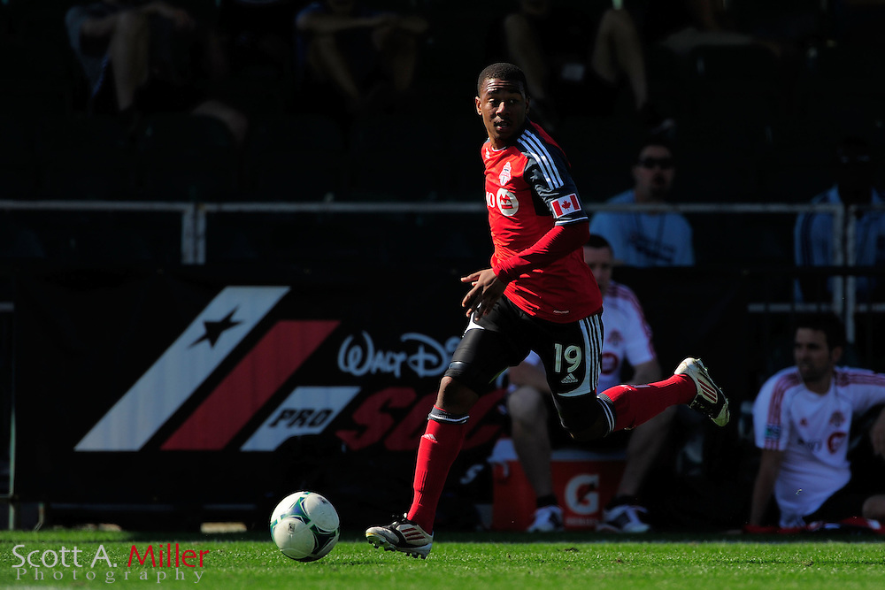 Toronto FC forward Reggie Lambe (19) during the Disney Pro Soccer Classic on Feb 9, 2013  in Lake Beuna Vista, Florida. ..©2013 Scott A. Miller