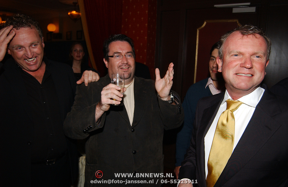 Kerstborrel Princess 2004, Gordon, Marc van der Linden en Evert Santegoeds