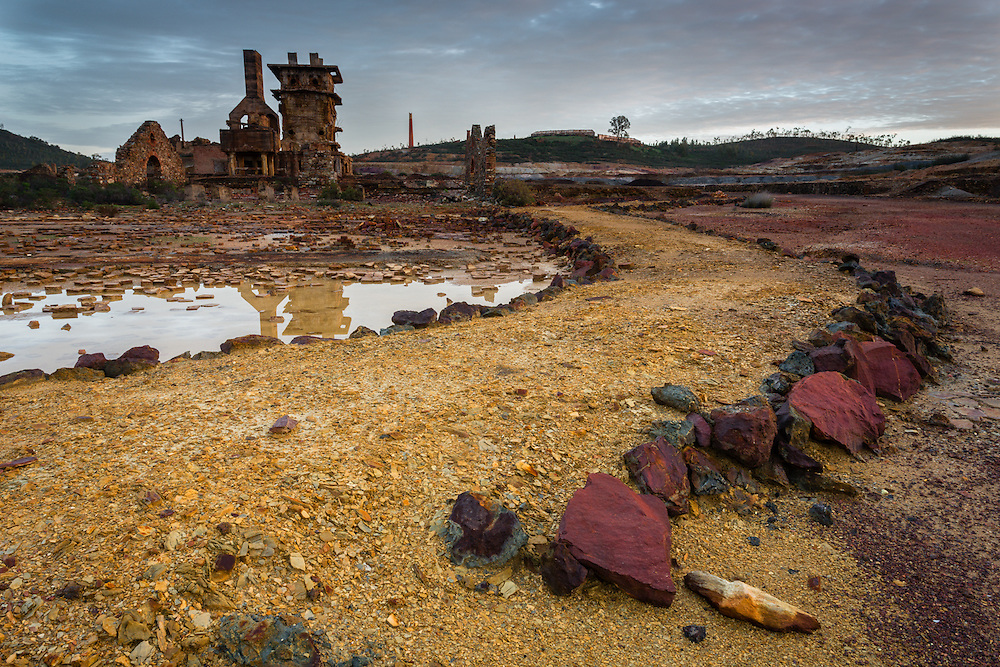 Exploration on the now abandoned sulphur mines of S. Domingos has left the landscape in a state that resembles a post-apocalyptic scenario.
