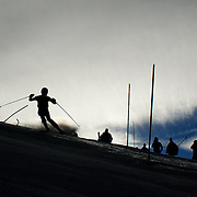 Rikke Gasmann-Brott, Norway, in action during the Women's Slalom event during the Winter Games at Cardrona, Wanaka, New Zealand, 24th August 2011. Photo Tim Clayton...