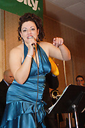 Gina Stough sang with Son del Caribe at the 17th Artemis Center Gala, Saturday night.