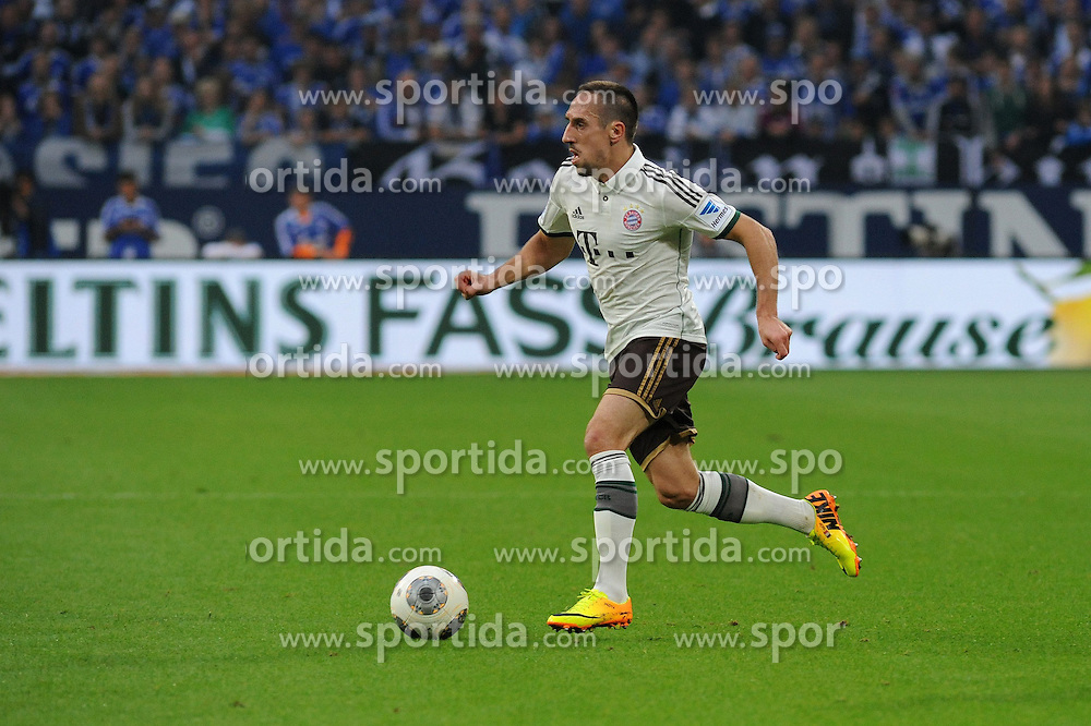 21.09.2013, Veltins Arena, Gelsenkirchen, GER, 1. FBL, Schalke 04 vs FC Bayern Muenchen, 6. Runde, im Bild Franck Ribery ( FC Bayern Muenchen/ Freisteller ) // during the German Bundesliga 6th round match between Schalke 04 and FC Bayern Munich at the Veltins Arena, Gelsenkirchen, Germany on 2013/09/21. EXPA Pictures &copy; 2013, PhotoCredit: EXPA/ Eibner/ Thomas Thienel<br /> <br /> ***** ATTENTION - OUT OF GER *****