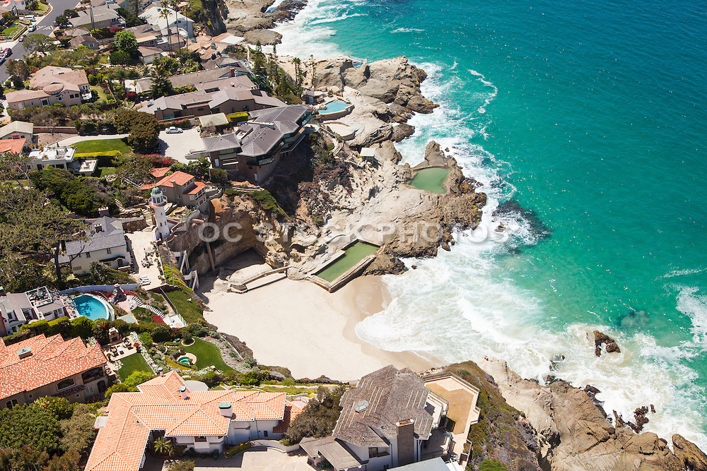 Aerial Stock Photos of Laguna Beach Ocean Front Residences