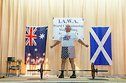 Bob Geib, 71, prepares  to lift the barbell in the Contenental Clean and Jerk competition at the International All-round Weightlifting Association and United States All-round Weightlifting Association World Championships at Balch School; September 28, 2014. (Wicked Local Staff Photo/ Sam Goresh)