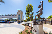Bronze Surf Sculpture of Phil Edwards at the New South Cove Community on PCH in Dana Point