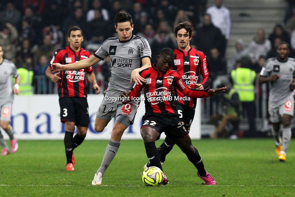 Florian THAUVIN / Nampalys MENDY  - 23.01.2015 - Nice / Marseille - 22eme journee de Ligue 1<br />