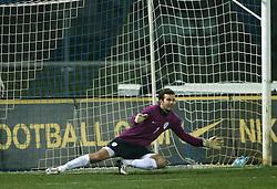 Slovenian Goalkeeper Samir Handanovic before the UEFA Friendly match between national teams of Slovenia and Denmark at the Stadium on February 6, 2008 in Nova Gorica, Slovenia. Slovenia lost 2:1. (Photo by Vid Ponikvar / Sportal Images).