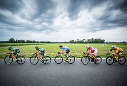 Juraj Bellan of Dukla Banska Bystrica, Martin Haring of Dukla Banska Bystrica, Nik Cemazar of Slovenija National Team, Jon Bozic of Adria Mobil Cycling Team and Benjamin Hill of Ljubljana Gusto Xaurum compete during 1st Stage of 25th Tour de Slovenie 2018 cycling race between Lendava and Murska Sobota (159 km), on June 13, 2018 in  Slovenia. Photo by Vid Ponikvar / Sportida