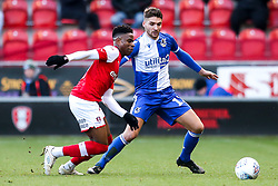Luke Leahy of Bristol Rovers takes on Matthew Olosunde of Rotherham United - Mandatory by-line: Robbie Stephenson/JMP - 18/01/2020 - FOOTBALL - Aesseal New York Stadium - Rotherham, England - Rotherham United v Bristol Rovers - Sky Bet League One