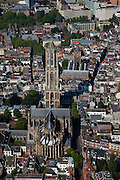 Nederland, Utrecht, Utrecht, 23-06-2010; centrum Utrecht met de Dom (Domtoren en Domkerk). Verder in beeld Buurkerk, Hoog Catherijne.luchtfoto (toeslag), aerial photo (additional fee required).foto/photo Siebe Swart