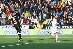 """Foto Filippo Rubin<br /> 08/04/2018 Cesena (Italia)<br /> Sport Calcio<br /> Cesena - Virtus Entella - Campionato di calcio Serie B ConTe.it 2017/2018 - Stadio """"Dino Manuzzi""""<br /> Nella foto: GOAL DALMONTE NICOLA (CESENA)<br /> <br /> Photo by Filippo Rubin<br /> April 08, 2018 Cesena (Italy)<br /> Sport Soccer<br /> Cesena vs Virtus Entella - Italian Football Championship League B 2017/2018 - """"Dino Manuzzi"""" Stadium <br /> In the pic: GOAL DALMONTE NICOLA (CESENA)"""