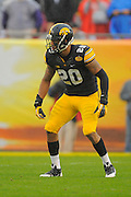 Iowa Hawkeyes linebacker Christian Kirksey (20) during the LSU Tigers 21-14 win over the Hawkeyes in the 2014 Outback Bowl at Raymond James Stadium on January 1, 2014 in Tampa, Florida.    <br /> <br /> ©2014 Scott A. Miller