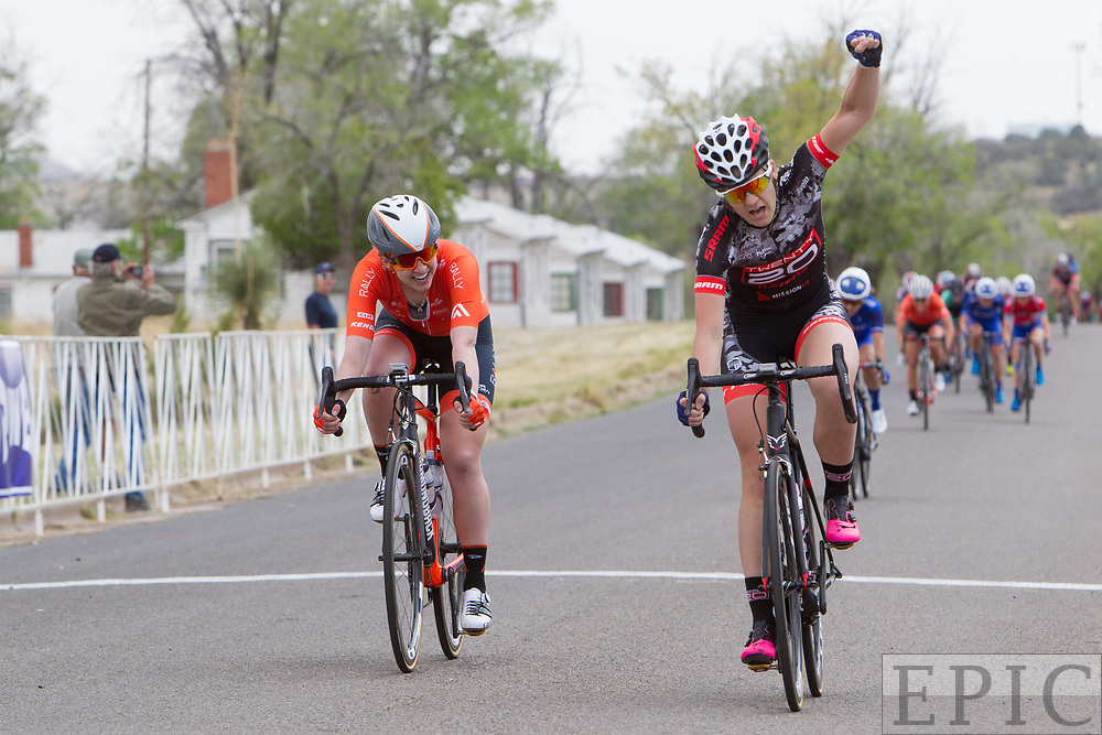 SILVERY CITY, NM - APRIL 19: Chloe Dygert (Team Twenty 20/Sho-Air) wins stage 2 of the Tour of The Gila on April 19, 2018 in Silver City, New Mexico. (Photo by Jonathan Devich/Epicimages.us)