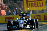 ROSBERG nico (ger) mercedes gp mgp w06 action during 2015 Formula 1 championship at Melbourne, Australia Grand Prix, from March 13th to 15th. Photo DPPI / Eric Vargiolu.