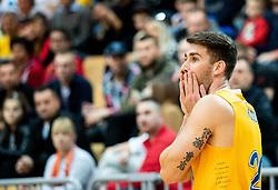 Alen Hodzic of Sixt Primorska reacts during basketball match between KK Sixt Primorska and KK Hopsi Polzela in final of Spar Cup 2018/19, on February 17, 2019 in Arena Bonifika, Koper / Capodistria, Slovenia. Photo by Vid Ponikvar / Sportida