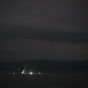 Groupama Sailing Team, skippered by Franck Cammas from France,  winning the Volvo Ocean Race 2011-12, after taking second place on leg 9, from Lorient, France to Galway, Ireland as they head in darkness to the finish line in the final leg of the Volvo Ocean Race 2011-2012.  Galway, Ireland. 2nd July 2012. Photo Tim Clayton