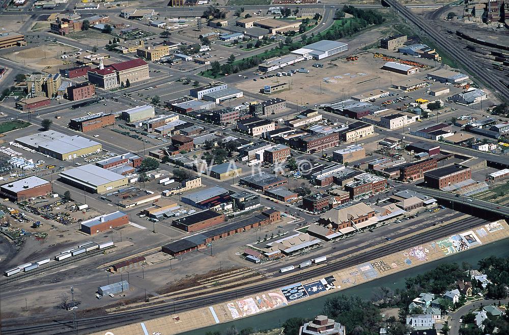 mid 1990 Pueblo aerial of historic district
