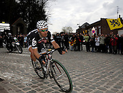 France, Gruson, Sunday 11th April 2010: Action from the 108th edition of the Paris Roubaix cycle race. Copyright 2010 Peter Horrell