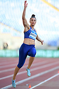 Ivana Spanovic (SRB) places sixth in the women's long jump at 21-8 3/4 (6.62m) during the 39th Golden Gala Pietro Menena in an IAAF Diamond League meet at Stadio Olimpico in Rome on Thursday, June 6, 2019. (Jiro Mochizuki/Image of Sport)