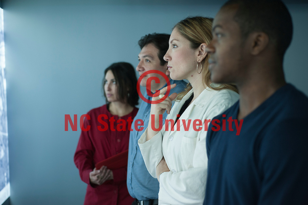 Diverse faculty on NC State campus. Forensic cluster.